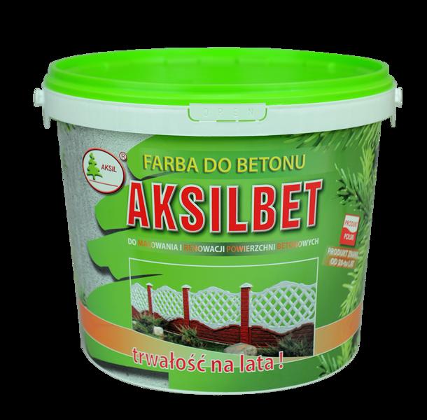 Modernistyczne Farba do betonu i ogrodzeń betonowych AKSILBET 10 L MD39