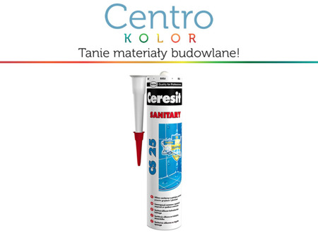 Silikon sanitarny Ceresit CS 25  -  kolory 280 ml